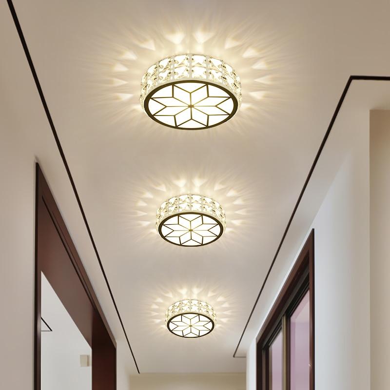 Kristall lampe Led lampen korridor Decke tür hause lampe led deckenleuchte loch downlight gang ...