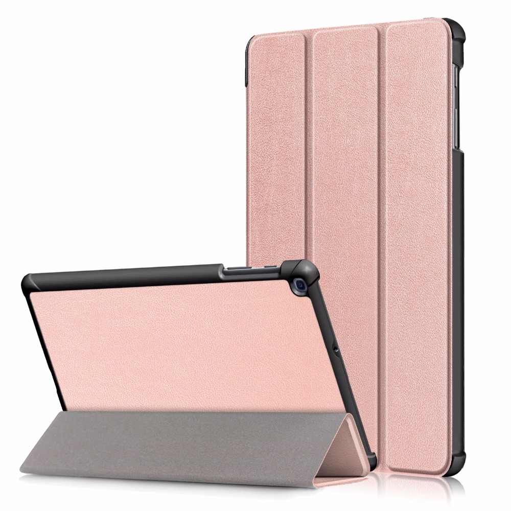Cover for Samsung Galaxy Tab A 10.1 2019 Case T510 T515 SM-T510 Foldable Magnetic Smart Sleep Awake Leather Coque Funda + Pen