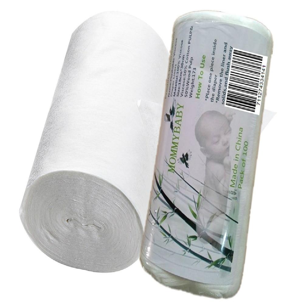 Lilbit Viscose Flushable Biodegradável Fralda de Pano Do Bebê Nappy Liners 100 Folhas Por Rolo para Fralda De Pano