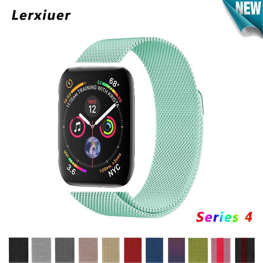 Milanese loop strap For Apple watch band 4 44mm 40mm correa 42mm 38mm iwatch series 4 3/2/1 stainless steel wrist bracelet belt stainless steel watch band 26mm for garmin fenix 3 hr butterfly clasp strap wrist loop belt bracelet silver spring bar