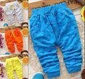 Novo 2016 primavera Peixe Bonita Da Forma do menino calças Bebê recém-nascido menino calças marca calças das crianças do algodão roupa do bebê do Outono 7-24 M