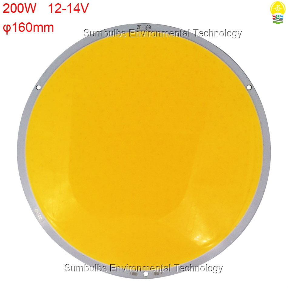 50W 200W Ultra Bright Warm Pure White Round LED COB Lamp Chip On Board DC 12V 14V DIY LED Light Source 108mm 160mm Circular LED