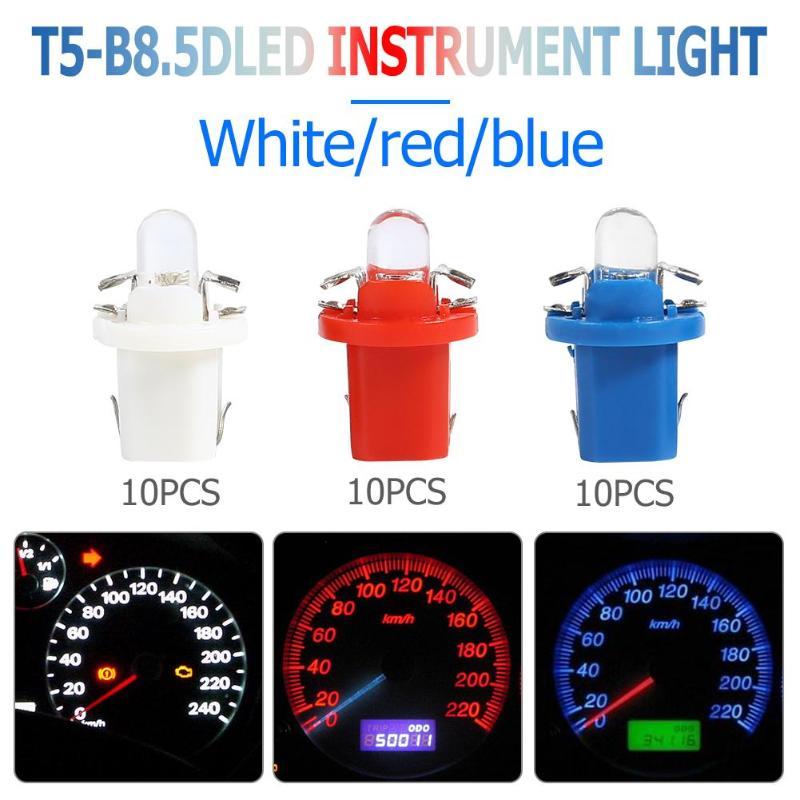 10 шт. T5 B8.5D светодиодный автомобильный светильник Авто приборная панель светильник лампы