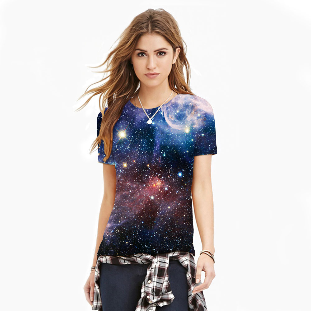 Brand Clothing 2016 Tee Shirt Femme Hot 3d Star Tshirt Men/Women Casual T-shirt Print Tops Tee S-XXL Harajuku Camisetas Mujer