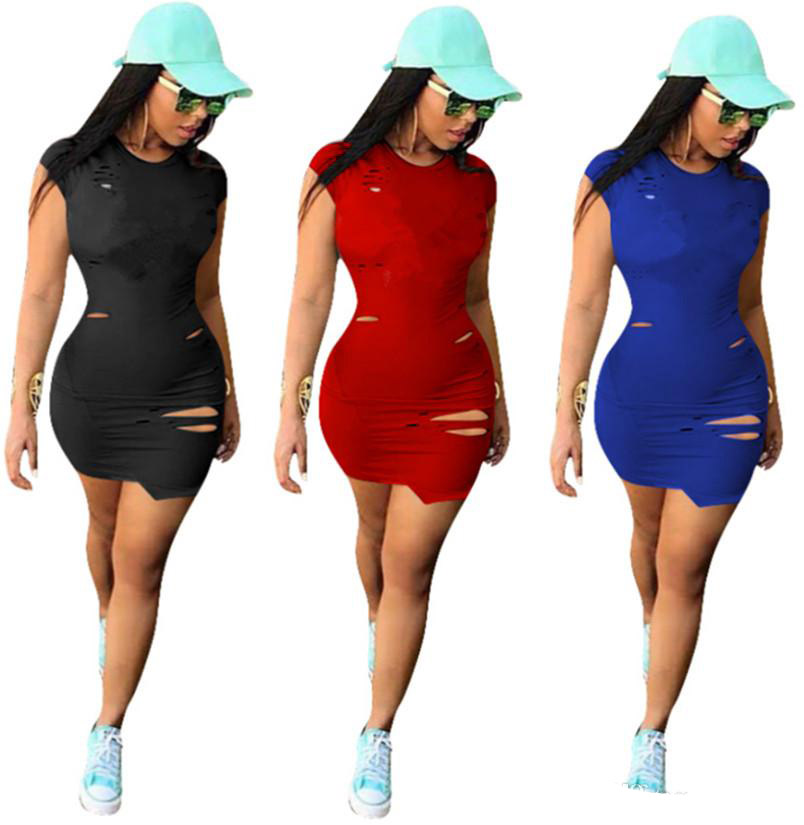 D'impression Femmes Décontracté Mini Jupes Vêtements Courtes Dame Robe Taille Lettre Été Déchiré 3xl Sexy Printemps S Grande Yf7mI6gvby