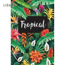 Laeacco Tropical Palm Tree Leaves Backdrop Portrait Photography Backgrounds Customized Photographic Backdrops For Photo Studio