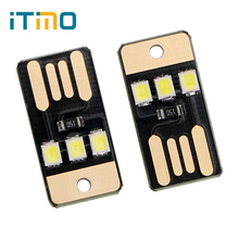 ITimo 3LEDs Portable USB LED Night Light for Power Bank Computer Laptop for Reading Notebook  Camping Lamp 2Pcs Mini