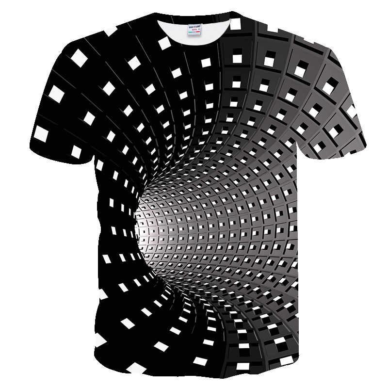Новая мужская футболка с коротким рукавом, модная забавная футболка с 3D оцифровкой, женские футболки, качественная черная футболка красного цвета hombre 2019