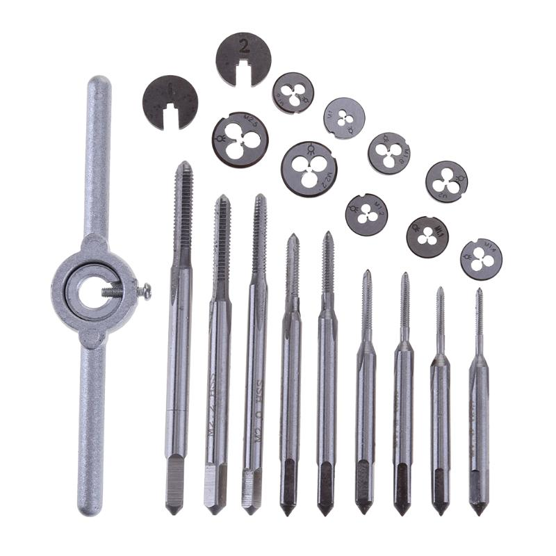 31pcs M1-M2.5 Mini Metric Tap Threading Die SeWt rench Holder High Speed Steel Hand Tool For Woodworking Model Making Watchmaker 20pcs m3 m12 screw thread metric plugs taps tap wrench die wrench set