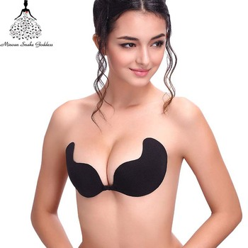 Sexy Push Up Strapless Brassiere Seamless Invisible Silicone Sticky Bra Strapless Bras For Women Push Up Wedding Bra Cups brassiere