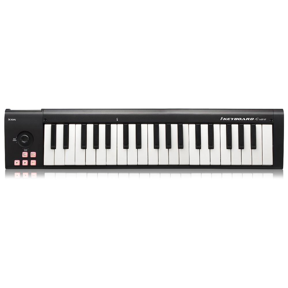Icona Ikeyboard 4 Mini 37-chiave Di Velocità-sensibile Pianoforte-chiavi Di Stile Usb Tastiera Controller Midi Supporta Daw Software Rinfrescante E Benefico Per Gli Occhi