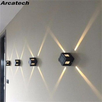 Outdoor Waterproof IP65 Wall Lamp 3W LED Light Modern Indoor/Outdoor Bedroom Living Room Aluminum NR-55