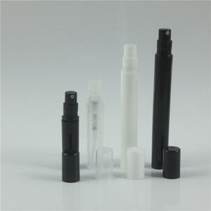 Image 2 - 100pcs/lot 2ml 3ml 4ml 5ml Pink White Black Clear Plastic Perfume Spray Bottle Sample Mist Sprayer Atomizer Perfume Bottle