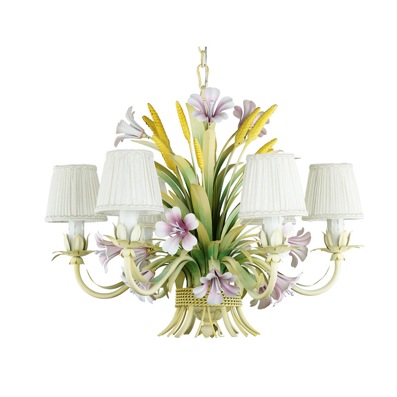 Luxury French Country Rustic Rural Rattan Plant Leaf Flower Hand Blown Glass Large Chandelier Living Room Lighting For Hotel цена 2017