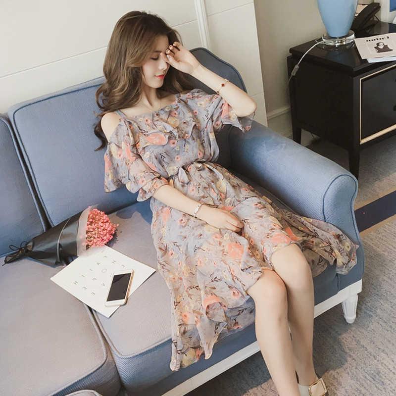 Foxmertor 2019 vestidos летнее платье Бохо с цветочным принтом женские пикантные пляжные платья на бретельках шифоновое платье для отпуска