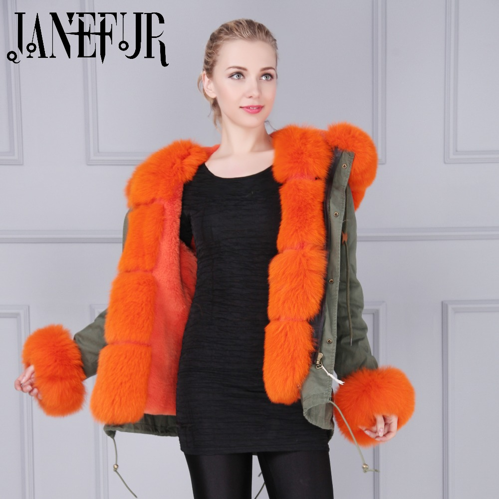 Wholesale New Arrival Removable Faux Fur Lined Large Fox Fur Collar Cuff Trimming Jacket Parka Coat