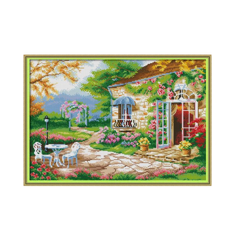 Joy Sunday Special Shaped Diamond Embroidery Icons Picture of Rhinestones Scenery 5D Diamond Painting Full Square Mosaic Diamond