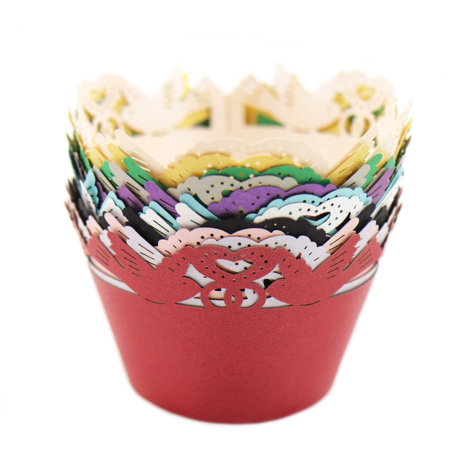 """12 шт./лот полые бумага """"Принцесса"""" чашка для именинного пирога кружевная бумага лазерная резка праздничный Декор обертки обертывания упаковка для капкейков"""