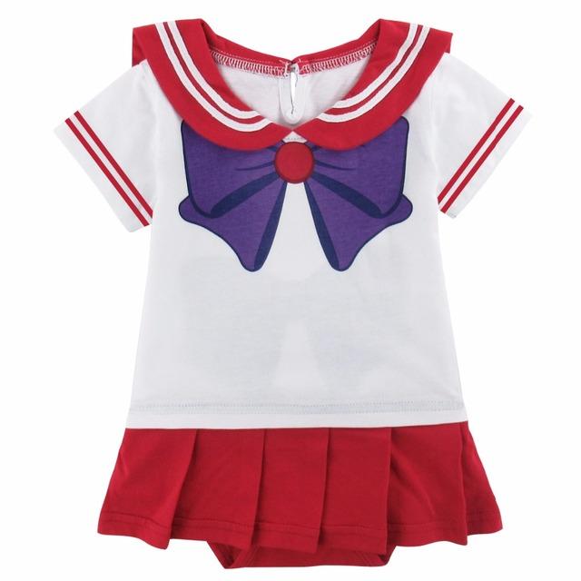 Bébé Fille Sailor Mars Costume Body Parti Anime Japonais Hino Rei Combishort Infantile de Robe de Princesse Bébé Fille Vêtements