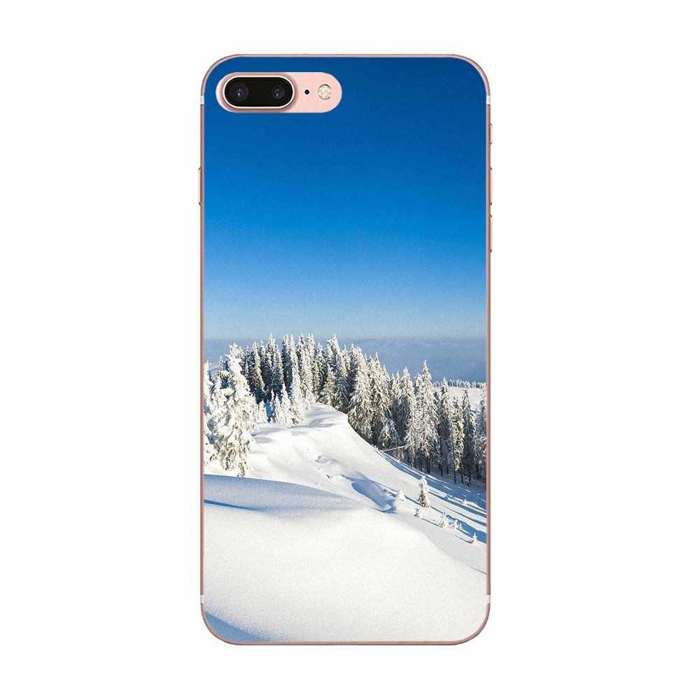 חורף נוף טבע עבור Huawei P7 P8 P9 P10 P20 P30 לייט מיני בתוספת פרו 2017 2018 2019 TPU Coque