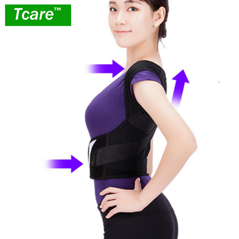 * Tcare Posture Correction Waist Shoulder Chest Back Support Brace Corrector Belt for Women Men Size S/M/L/XL/XXL Health Care inc black white women s size xl floral print keyhole back seamed blouse $69