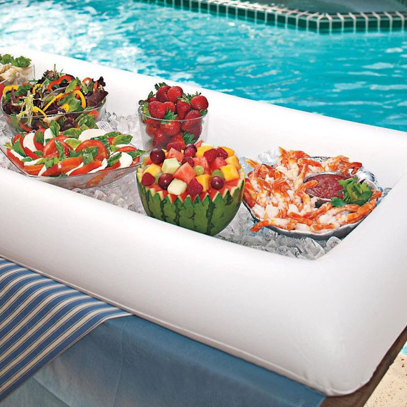 Food For Outdoor Wedding: Summer Party Inflatable Salad Bar Buffet Ice Bucket