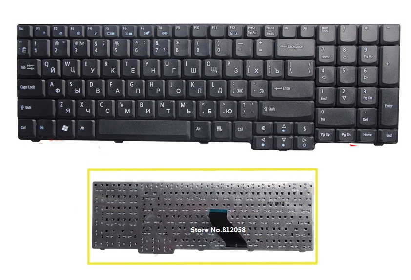 Ssea New Russian Ru Keyboard For Acer Aspire 7000 7110