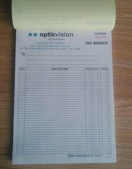 Custom Print A Xmm Duplicate Carbonless Receipt Invoice Book - Custom carbon paper invoices