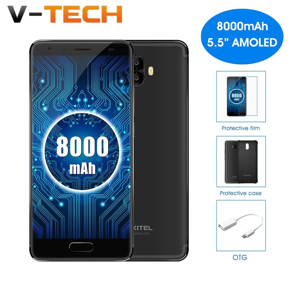 Oukitel K8000 5.5 HD AMOELD LCD MTK6750T 4G RAM 64G ROM Octa Core Dual Rear Cameras 8000mAhFast Charge Fingerprint Smartphone