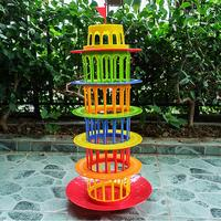 Fly AC Toy Balance Pisa Tower Game Toy Funny Family Party Game for Ages 5 and Up