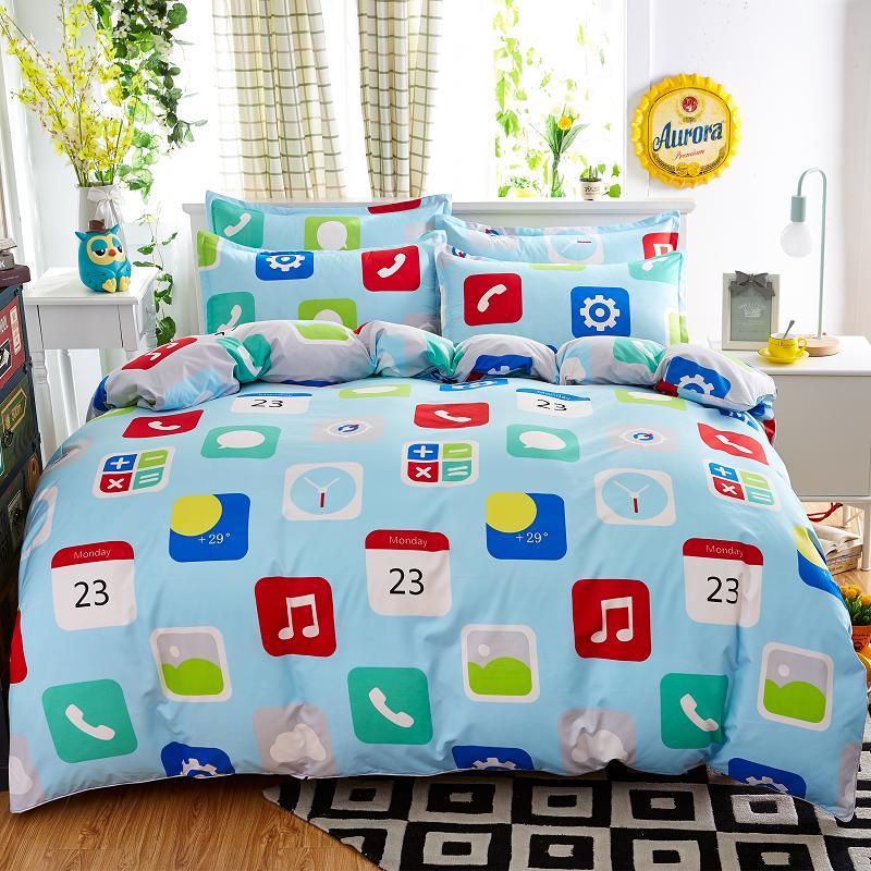 المنسوجات المنزلية ، التحكم الرقمي نمط الفراش مجموعات 3/4 قطع من ورقة غطاء سرير لحاف المخدة الملك الملكة كامل حجم التوأم