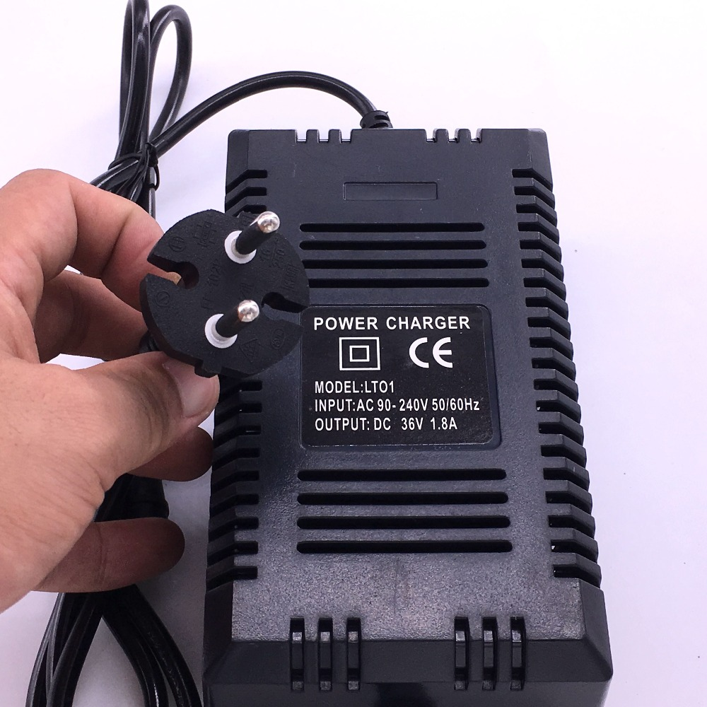 cheapest Wholesale EU Plug 36v charger smart electric scooter charger 36v lead acid gel battery charger 1 8A 36V RCA LOTUS OUTPUT