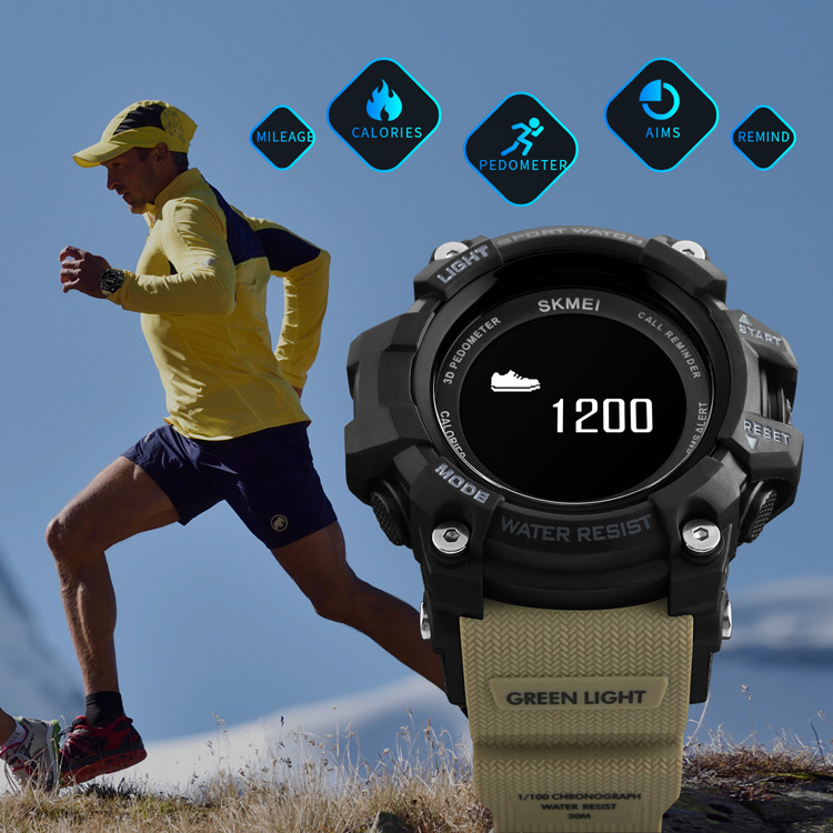 SKMEI Smart Watch Men Heart Rate Sport Watches Bluetooth Pedometer Calorie Top Luxury Brand Digital Wristwatch Relogio Masculino fashion smartwatches mens watches top brand luxury smart watch men pedometer heart rate monitor bluetooth digital sports watches