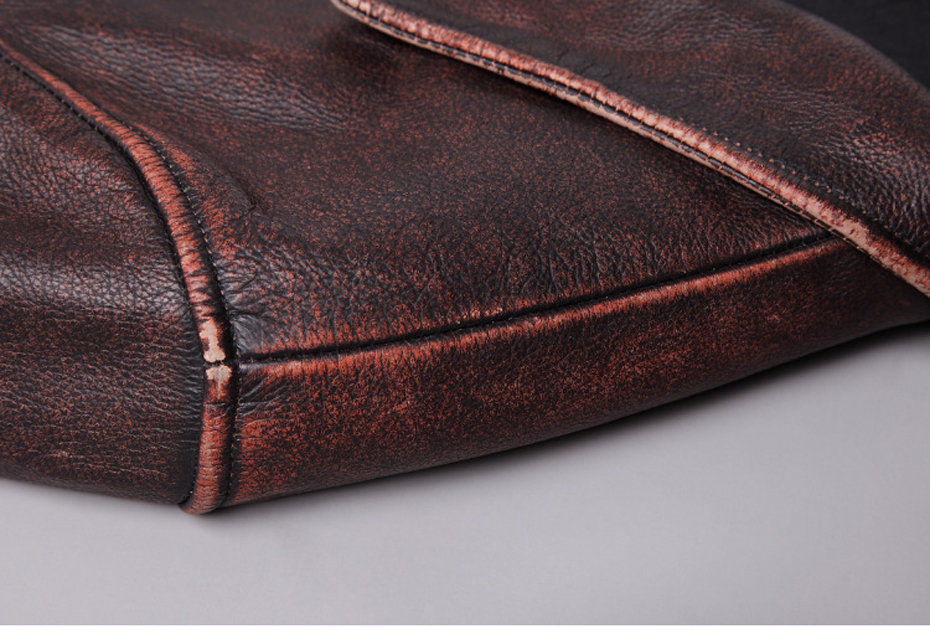HTB1XUnjRXYqK1RjSZLeq6zXppXa0 mens cowhide jacket Vintage Men 100% genuine leather Jackets Cow Jackets Zipper Stand Streetwear Leisure cool warm coat 18687-5