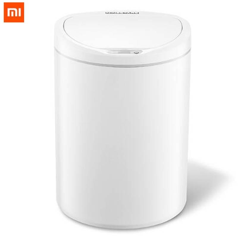 Original Xiaomi Mijia NINESTARS Smart Trash Can Motion Sensor Auto Sealing LED Induction Cover Trash 7/10L Mi Home Ashcan Bins-in Smart Remote Control from Consumer Electronics