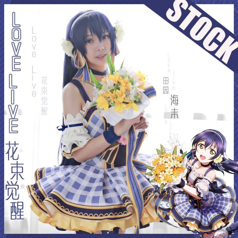 [STOCK] Collection! Anime Lovelive!! Bouquet Hand Flower Awaken All Members Full Set Cosplay Costume Lolita Dress New 2017