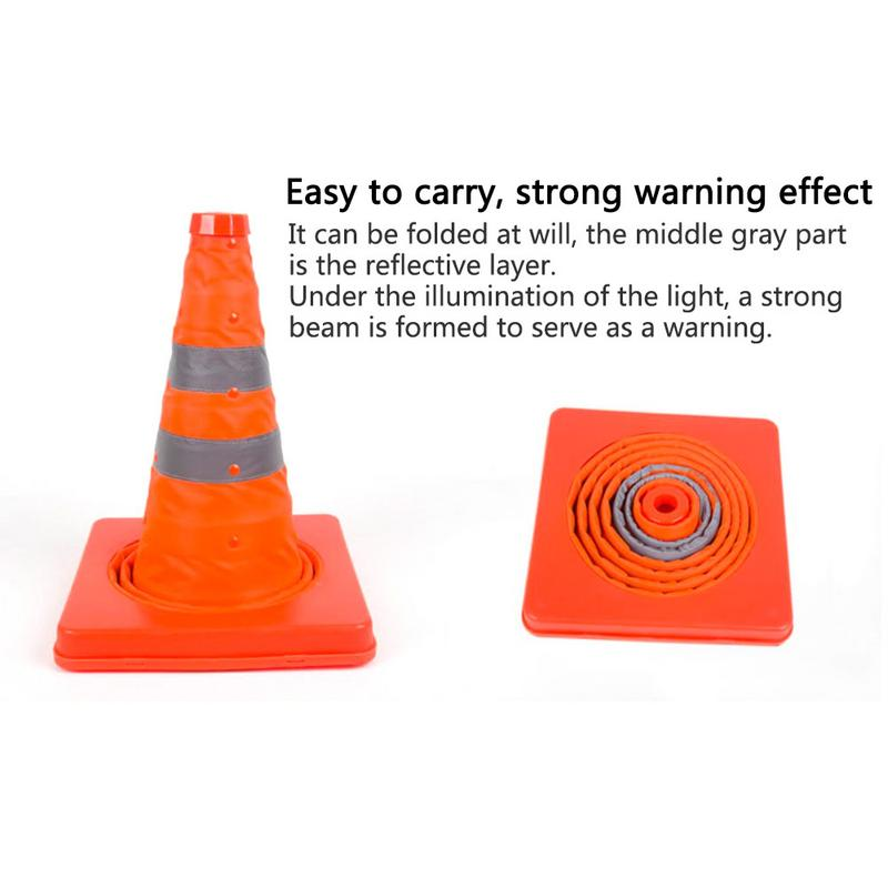Image 4 - New Telescopic Traffic Cone Car Warning Sign Roadblock Reflective Cone Roadside Emergency Triangular Safety Sign Export-in Reflective Strips from Automobiles & Motorcycles
