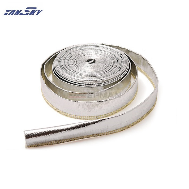 TANSKY Aluminized Metallic Heat Shield Sleeve Insulated Wire Hose Wrap 15mm 10meter For Ford Falcon BA aliexpress com buy tansky aluminized metallic heat shield sleeve  at eliteediting.co