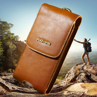 FLOLVEME Universal 5 5 Pouch Case For IPhone 7 Plus Luxury Genuine Leather For Samsung For