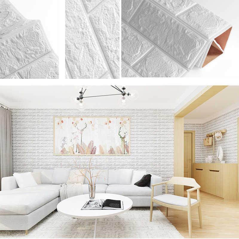 Самоклеющиеся водонепроницаемые ТВ фоновые обои-с рисунком кирпича 3D стикер стены гостиной декоративные Стикеры для спальни 60*60*0,8 см