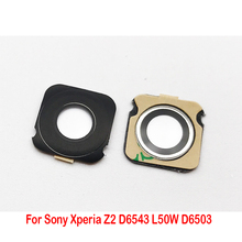 2 pcs/lot , New Back Rear Camera glass Lens Cover For Sony Xperia Z L36h Z1 L39h Z2 L50w Z3 Compact Z5 Premium with Adhesive