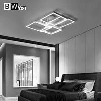 BWART Modern LED chandelier lighting for living dining bedroom Home Office Study Remote Large matrix Ceiling chandelier lamp