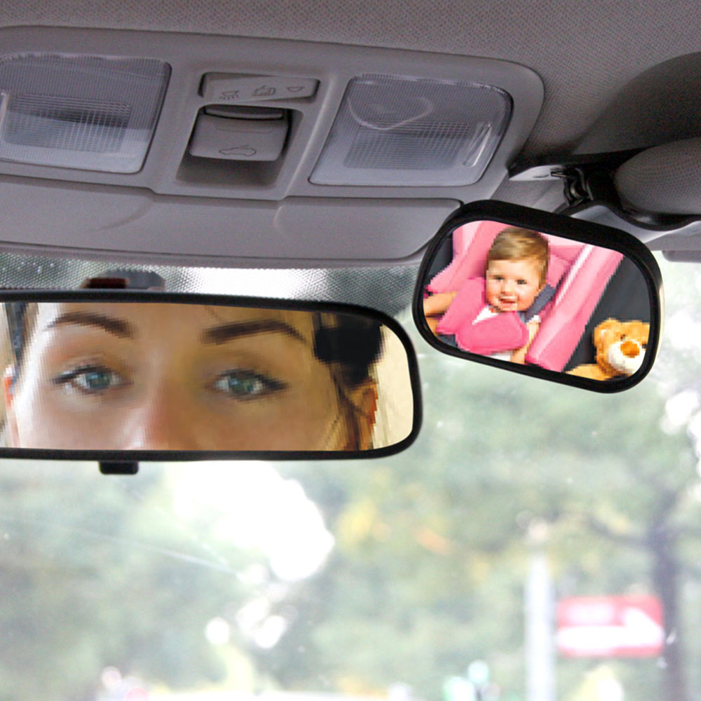 Tirol T22614c Mini Car Baby View Mirror 2 IN 1 / Car Rear Baby Safety Convex Mirror for Car Adjustable Baby Mirror Free Shipping