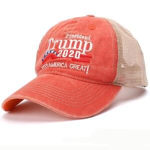 Шляпа Trump 2020 HT2547 для мужчин и женщин, летняя кепка, бейсболка с надписью «Keep America Great», армейская Кепка с сеточкой, хлопковая бейсболка