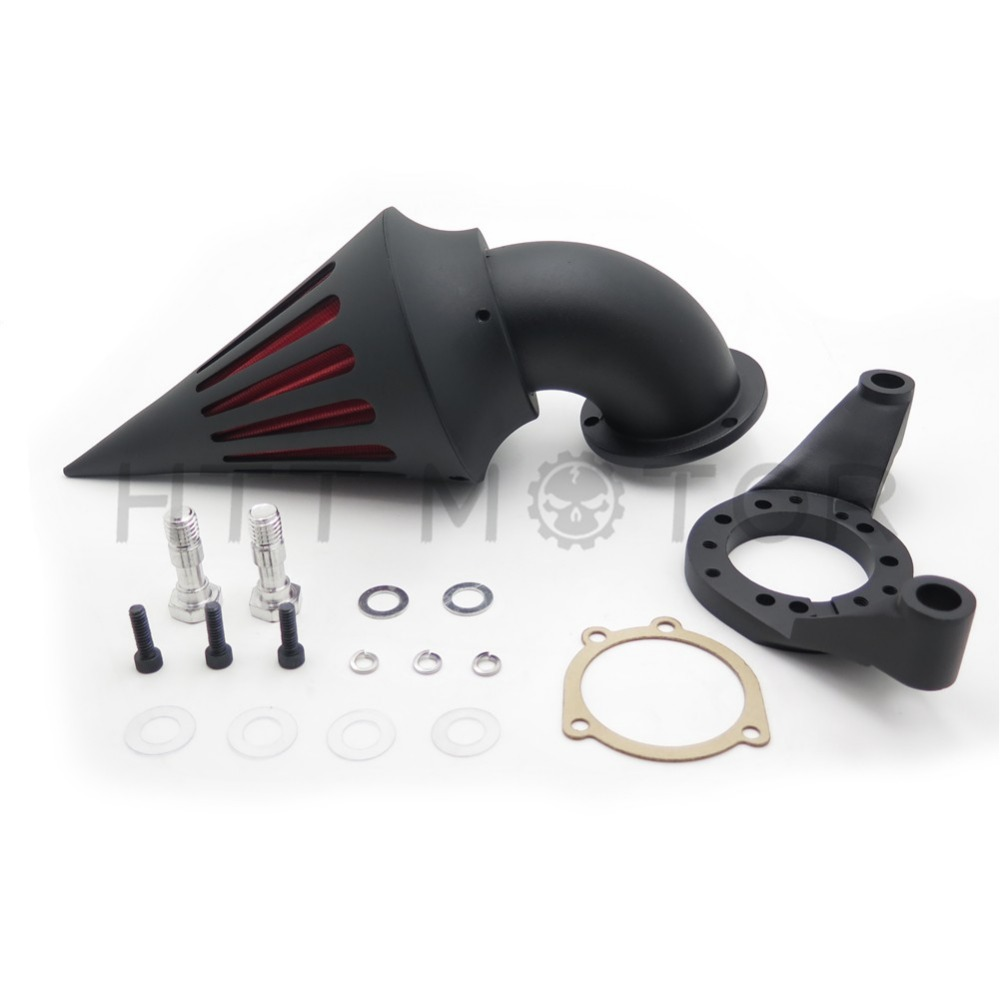 Aftermarket Motorcycle Parts Spike Air Cleaner Intake Filter Kit For Harley Davidson   CV Carburetor Delphi V-Twin BLACK купить