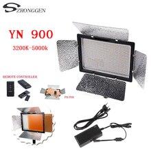 YONGNUO YN900 גבוה CRI 95 + אלחוטי 3200 K 5500 K וידאו אור LED פנל, YN 900 900 מנורה שעועית 7200LM 54 W + מתאם