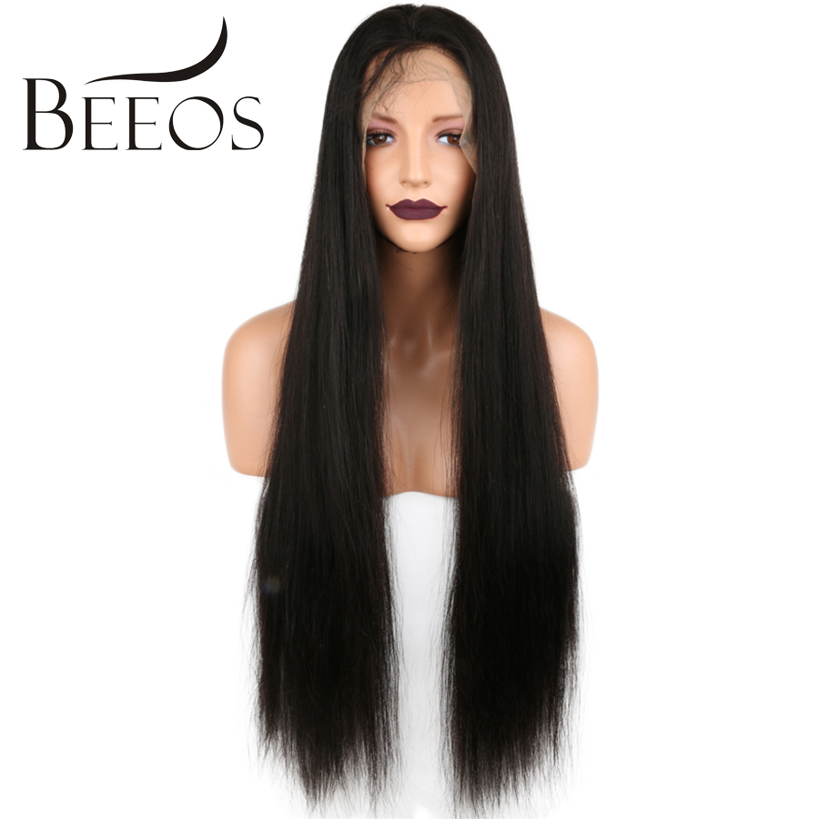 Beeos Peruvian Hair Lace Front Human Hair Wigs Natural Color Preplucked Hairlines With Baby Hair Shipping Free