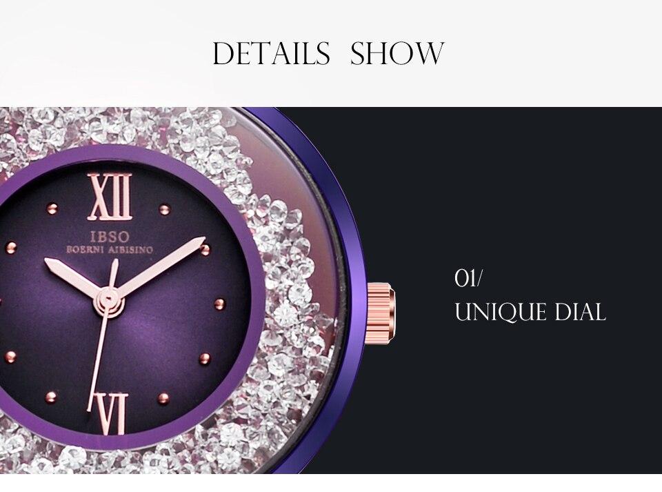 IBSO Brand Women Fashion Watch 2018 Mesh Strap Watch Female Watch 11