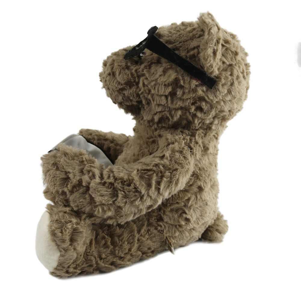 משלוח Dropshipping שעת הסיפור דובון עם משקפיים ממולא בעלי החיים רך בפלאש צעצועי קריאת ספרים להרגיע תינוק מתנת לפעוטות