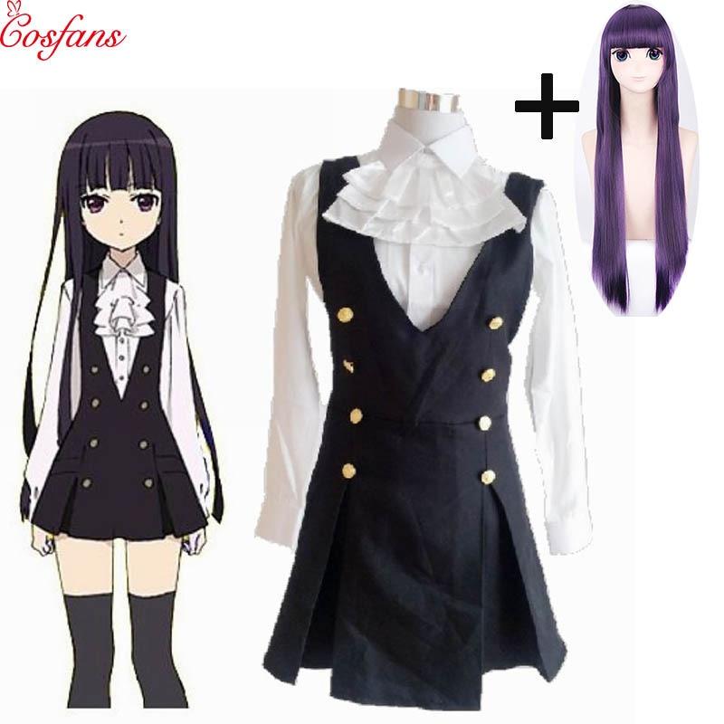 2019 New Shirakiin Riricho Anime Inu X Boku SS Cosplay Cartoon Halloween Cos Woman Man Cosplay Costume Shirt Skirt Bow Tie Wigs